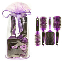 HEAD Jog OVALE VIOLA ionico in ceramica per capelli Brush Set x 4 in Borsa Regalo