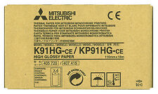 Mitsubishi K91HG/KP91HG High Gloss Paper for P-90 Series Printers 4 rolls/box.