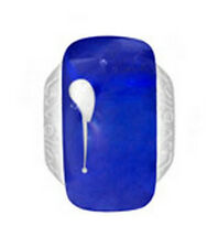 LOVELINKS BY PASTICHE  MURANO BEAD SILVER LINK ROYAL BLUE & WHITE TM271 MINT
