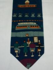 Tooster Collectables Diner Coffee Clocks Salt Shaker Men's Necktie Novelty Tie
