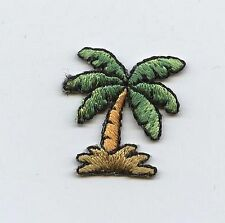 Iron On Embroidered Applique Patch Small Mini Tropical Beach Palm Tree