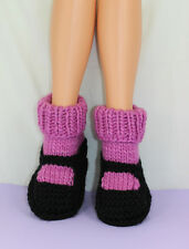 PRINTED INSTRUCTIONS-ADULT SUPERFAST RIB CUFF SOCK SLIPPERS KNITTING PATTERN