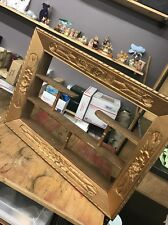 Frame Shadow Box Guilted Ornate Shelf Wall Mounted Antique Vintage Wood Floral