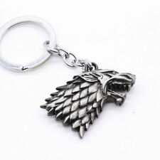 NEW Silver HBO House Stark Head 3D Metal Keyring Keychain Cool