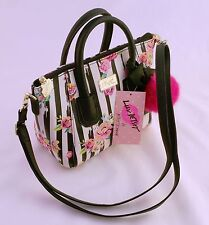 NWT Betsey Johnson Women's Striped Crossebody Messenger Mini Bag/Floral