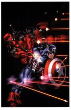 DEADPOOL & CAPTAIN AMERICA ART PRINT Signed by ED McGUINESS