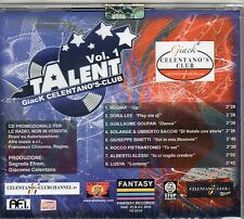 TALENT VOL.1 CD GIACK Giacomo CELENTANO nuovo SIGILLATO PROMO Radio 2010