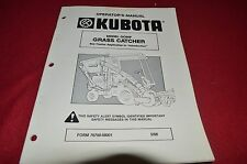 Kubota GC60F Grass Catcher Operator's Manual CHPA