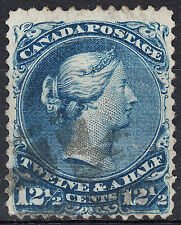Canada 12 1/2c Large Queen Watermarked Bothwell, Scott 28a, F-VF used - $450