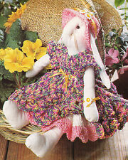Crochet Pattern ~ BUNNIKINS BUNNY DOLL DRESS OUTFIT, Easter ~ Instructions