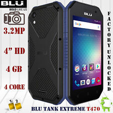 BLU Tank XTREME 4.0 Water Resistant T470U Android 6.0 4GB 3G H+ Unlocked Phone