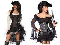 Sexy Damen Piratenkleid Piratenkostüm Kostüm Karneval Gr. XS S M L XL XXL #0030
