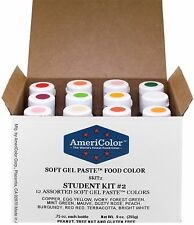 Americolor Soft Gel Paste Food Color Set of 12