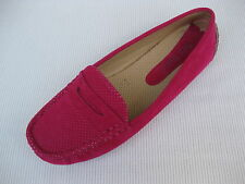 Pierre Dumas Womens Shoes NEW $45 Driving Fuchsia Pink Perf Loafer Driver 9 M