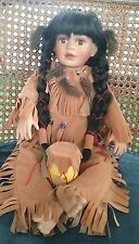 Southwestern Native American Doll Indian  Collectible Porcelain Decor