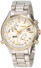New Timex T2N945DH Intelligent Quartz World Time Two Tones Men's Watch