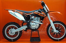 KTM SXF 450 1:10 Die-Cast Motocross Mx Motorbike Toy Model Bike Orange New Ray