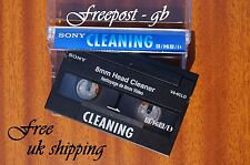 SUPERB SONY V8-6CLD Video 8 - 8mm - Hi8 & Digital 8 Head Cleaning Tape/ Cassette