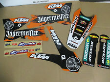 ORANGE JAGER TEAM  GRAPHICS KTM SXF SX  2005 2006 & 2006 2007  XCF XCW  EXC