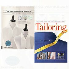 Tailoring The Classic 2 Books Collection Set Shirtmaking Workbook Paperback,New