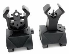 Ar Tactical Flip up Front Rear Iron Sight Sights Set Picatinny Rails Transition
