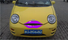 New car purple lip sticker for Chery Q3,funny car eyelash stickers