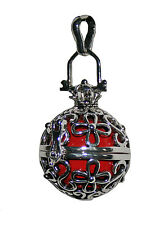 TOP Men's Ring Ball Flower Cage Angel Red Silver New