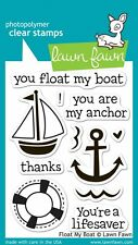 LAWN FAWN CLEAR STAMP SET - FLOAT MY BOAT LF654 sailboat anchor lifesaver