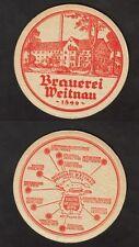 Alter BD - Bierdeckel - Coaster , Brauerei Weitnau ,Weitnau / Schwaben /BY