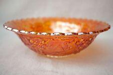 """Carnival Glass  Marigold 10"""" Bowl Grape and Vine Design"""