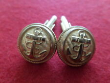Boutons manchette Cufflink 18 mm Collection TROUPES MARINE COLONIALE MILITAIRE 2
