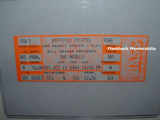 THE MOTELS Unused 1983 MINT Concert Ticket WARFIELD THEATRE S.F. Martha Davis