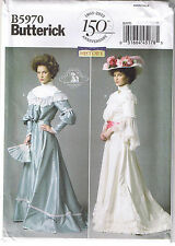 Historical Victorian Top Skirt Belt Dress Wedding Sewing Pattern 8 10 12 14 16