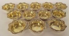 Set Of 12 Sterling Silver Master Salts Lot 2380A