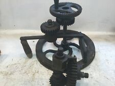 Vintage Drill Press Gears Steampunk Industrial Salvage Altered Art  Lamp Base