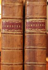 Antique Georgian Leather-Bound Books 18th Century London Theatre Comedy Plays