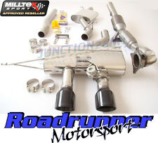 Milltek Golf R MK6 Turbo Back Exhaust Inc Downpipe Sports Cat Resonated Black