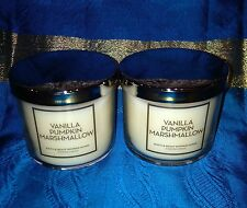 Lot of 2 Vanilla Pumpkin MARSHMALLOW Bath and Body works Scented Candle 4oz