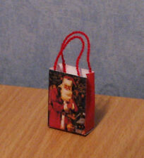 1/12 dolls house miniature Christmas Gift Bag / Carrier paper shop groceries LGW