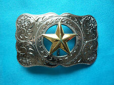 Texas Lone Star Sheriff Country & Western Cowboy Rodeo 3D Jeans Belt Buckle