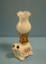"Miniature ceramic oil lamp ""turtle"" working condition brand new cute #23 c"