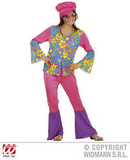 Childrens Hippy Girl Fancy Dress Costume 70S Hippie Flower Power Outfit 140Cm