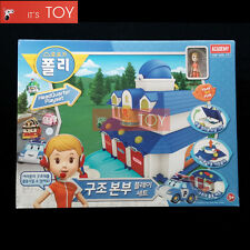 Robocar Poli Headquarter Rescue Station Center Play Set JIN for Diecast figures