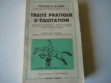 Traité pratique d'Equitation O de Carné 1960  livre Equitation