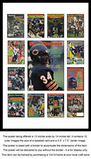 Chicago Bears Sports Illustrated Collage Poster