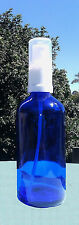 100ml Blue Glass Bottle with Fine Mist Atomiser Spray High Quality - Min qty 2