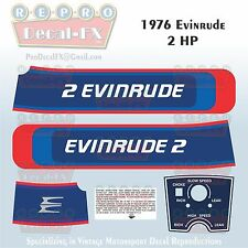 1976 Evinrude 2 HP Outboard Reproduction 5 Piece Marine Vinyl Decals 2602