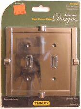 Stanley Steel Black Chrome Plated Dual Switch Wall Plates S804-575 #5xt