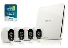 Arlo Security System - 4 Wire-Free HD Cameras, Indoor/Outdoor, Night Vision (VMS