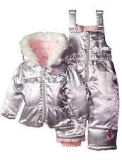 U.S. Polo Assn. Baby Girls' Puffer Snowsuit Coat Snow Bibs 12 Months